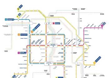 Harta Bruxelles Harta Transport Bruxelles Belgia