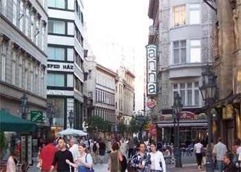 Vaci Utca - Strada de shopping din Budapesta