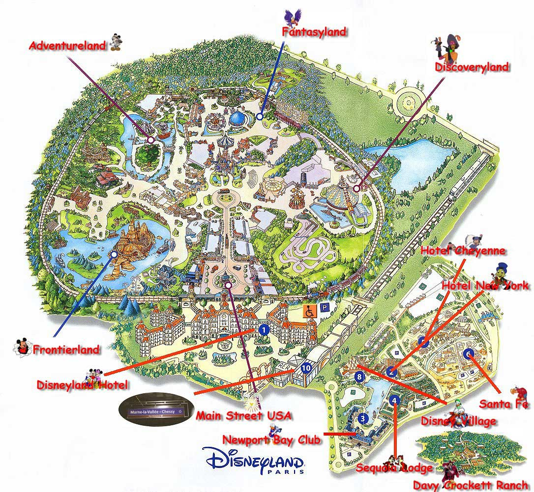 Harta Disneyland Paris Harta Atractii Disneyland Paris