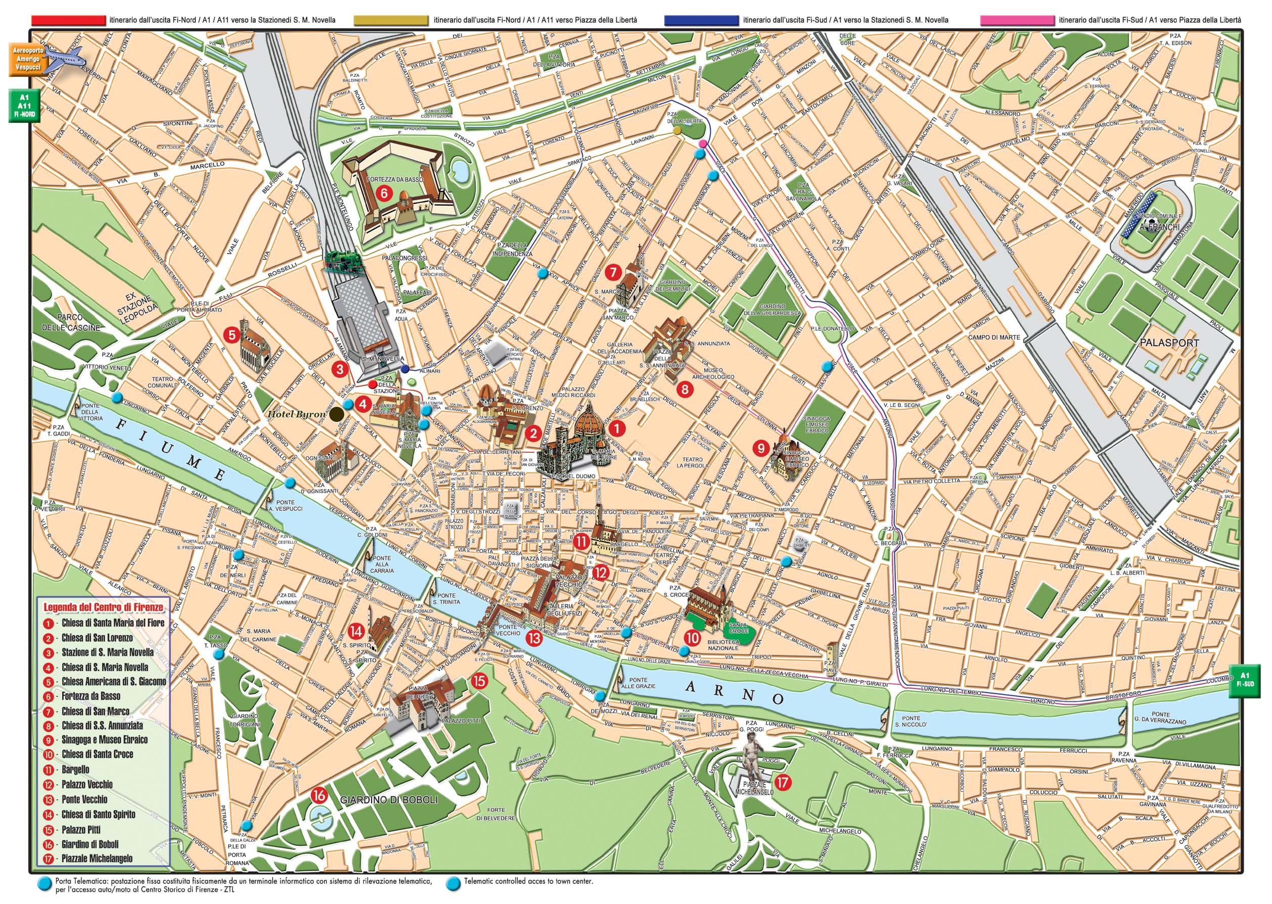 Harta Florenta Harta Florentei Italia