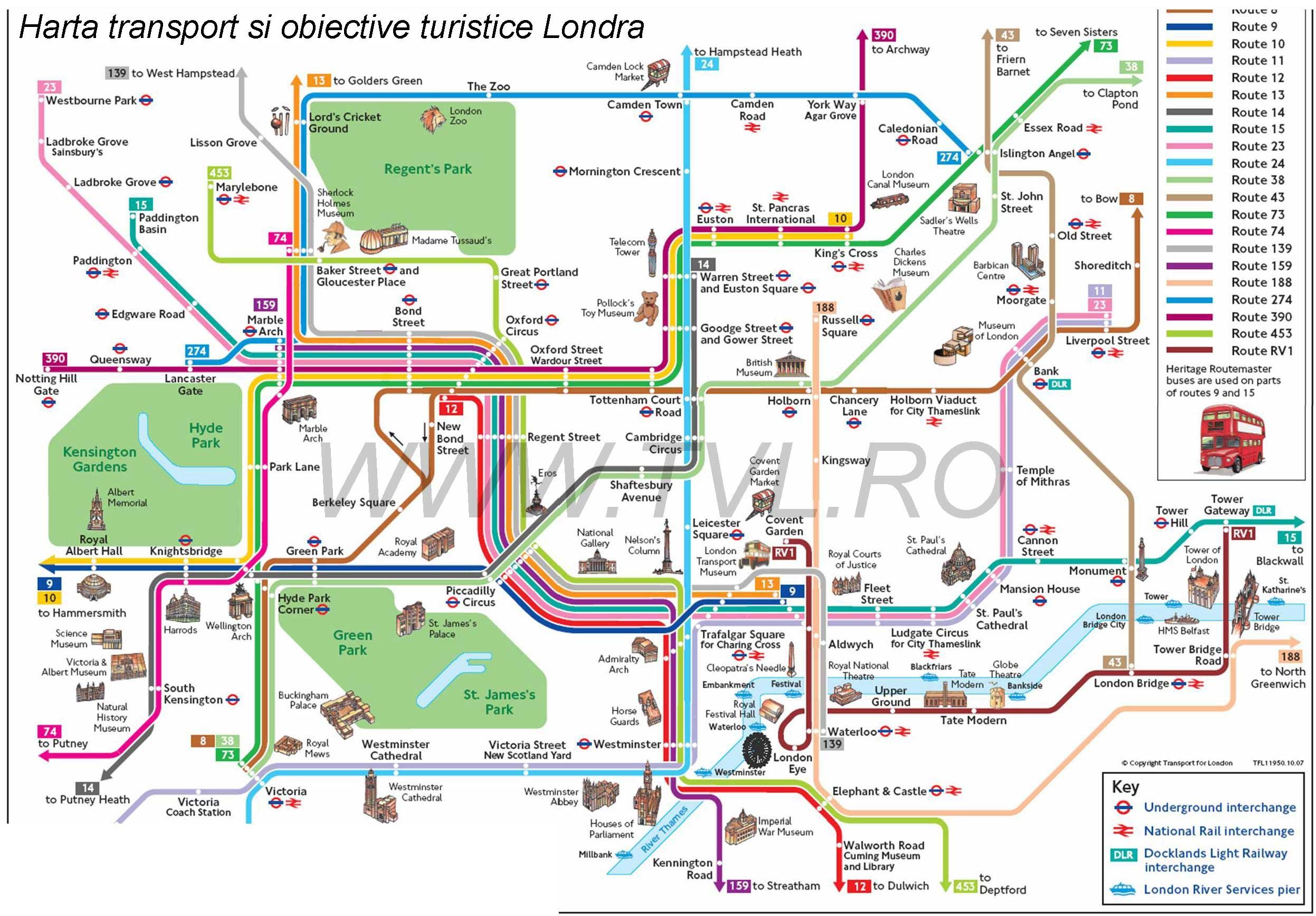 Harta Londra Harta Metrou Londra Harta Transport Public