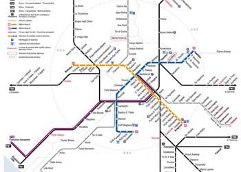 Harta Roma Harta Obiective Turistice Roma Si Harta Metroului Din