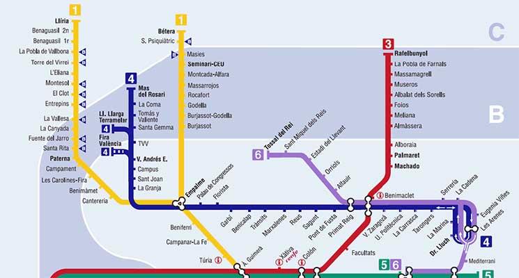 Harta Obiective Valencia Harta Metrou Valencia Tvl Ro