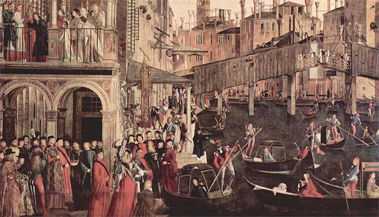 Canal din Venetia medievala